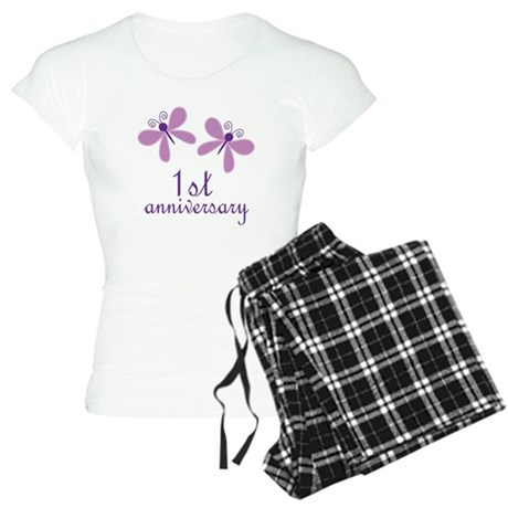 1st Anniversary (Wedding) Women's Light Pajamas
