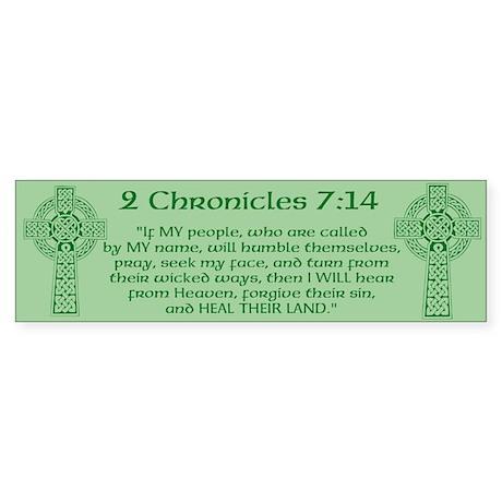 Celtic 2Chr 7:14 - Sticker (Bumper 10 pk)