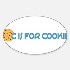 C is for Cookie Sticker (Oval)