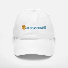 C is for Cookie Baseball Baseball Cap