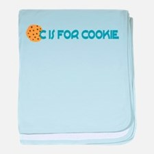 C is for Cookie baby blanket
