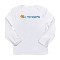 C is for Cookie Long Sleeve Infant T-Shirt