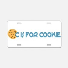 C is for Cookie Aluminum License Plate