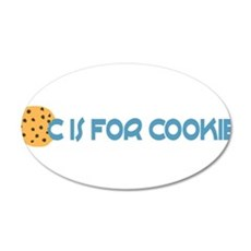 C is for Cookie 22x14 Oval Wall Peel