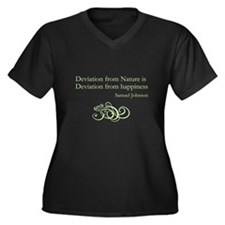 Deviation from Nature Women's Plus Size V-Neck Dar