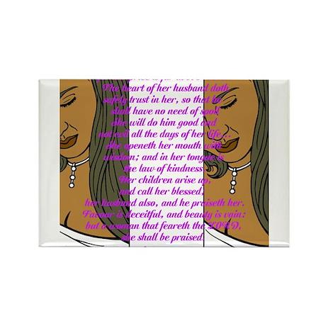 Proverbs 31 Women Rectangle Magnet