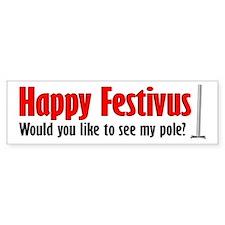 Happy FESTIVUS™ Pole Bumper Sticker