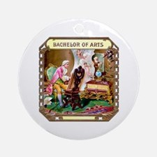 Bachelor of Arts Cigar Label Ornament (Round)