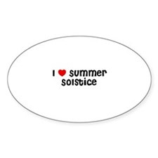 I * Summer Solstice Oval Decal
