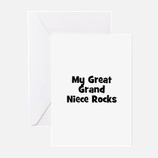 My Great Grand Niece Rocks Greeting Cards (Package