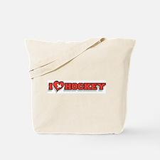 I Love Hockey Tote Bag