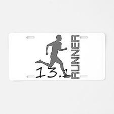 Cute Half marathon Aluminum License Plate