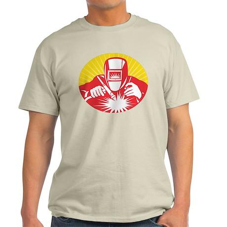 welder welding worker Light T-Shirt