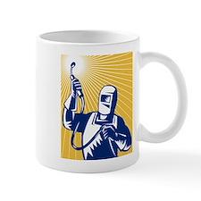 welder welding worker Mug