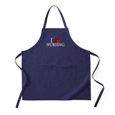 I Love Nursing Apron (dark)