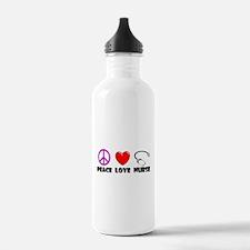 Peace Love Nurse Water Bottle
