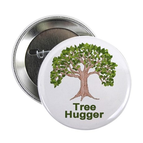 Tree Hugger Button