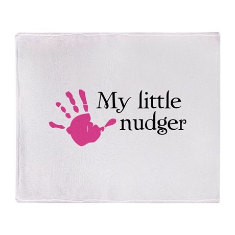 My little nudger Throw Blanket