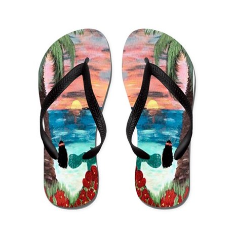 Aloha Mermaid Flip Flops