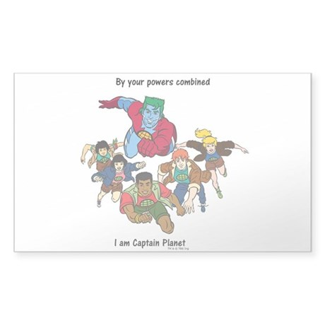Captain Planet Sticker (Rectangle)