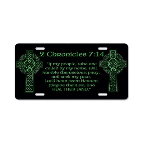 Celtic 2Chr 7:14 - Aluminum License Plate