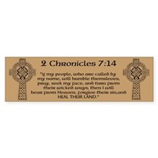 Celtic 2Chr 7:14 - Bumper Sticker