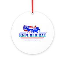 Official Republicrat Ornament (Round)