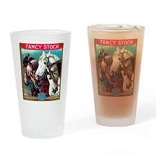 Horses Cigar Label Drinking Glass