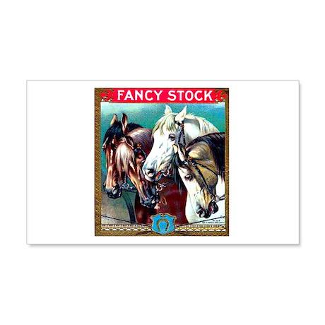 Horses Cigar Label 22x14 Wall Peel