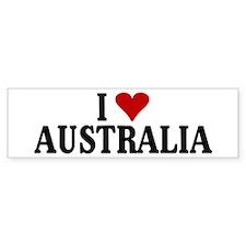 I Love Australia Bumper Bumper Sticker