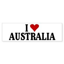 I Love Australia Bumper Car Sticker