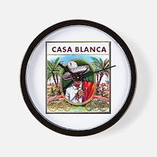 Casa Blanca Cigar Label Wall Clock