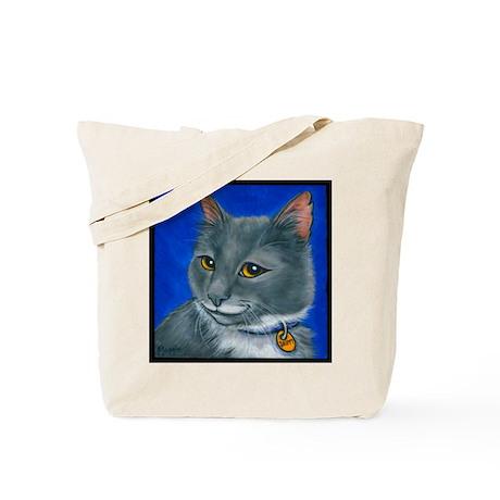 "Tuxedo Cat ""Skippy"" Tote Bag"