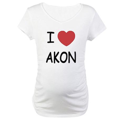 I heart Akon Maternity T-Shirt