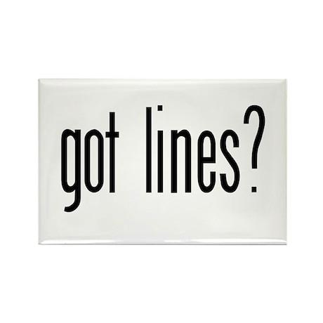 Got lines? Rectangle Magnet