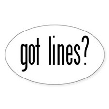 Got lines? Oval Decal