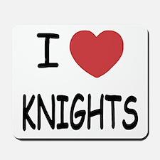 I heart knights Mousepad