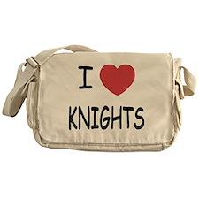 I heart knights Messenger Bag