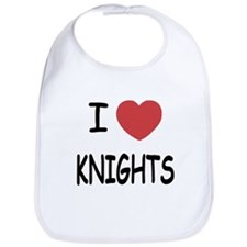 I heart knights Bib