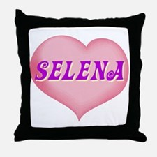 selena heart Throw Pillow