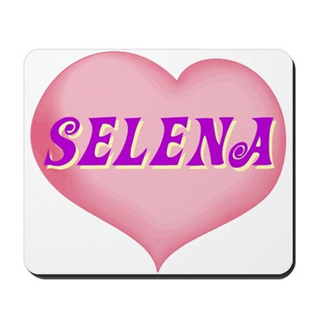 selena heart Mousepad