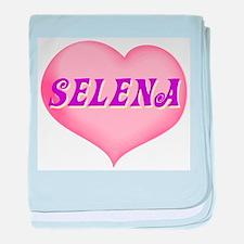 selena heart baby blanket
