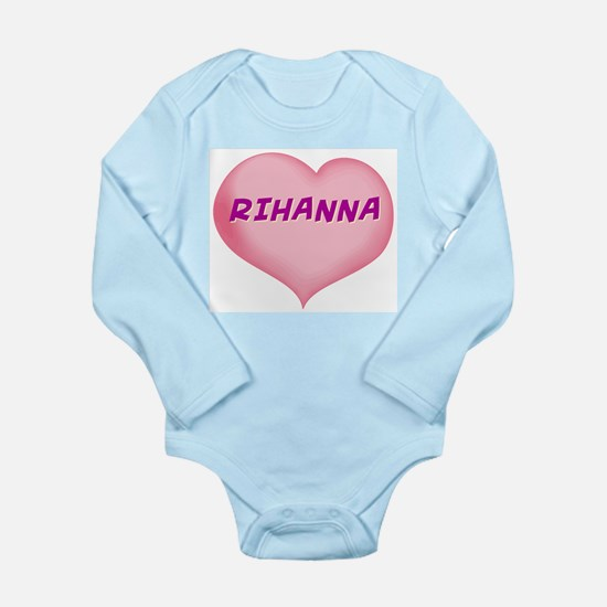 rihanna heart Long Sleeve Infant Bodysuit