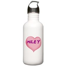 miley heart Water Bottle