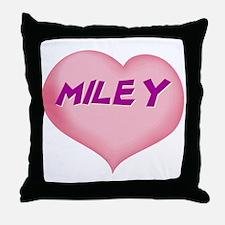 miley heart Throw Pillow