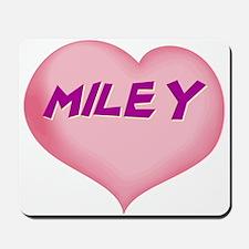 miley heart Mousepad