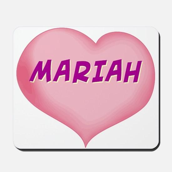 mariah heart Mousepad