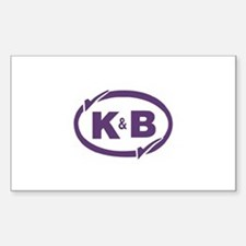 K&B Drugs Double Check Sticker (Rectangle 10 pk)
