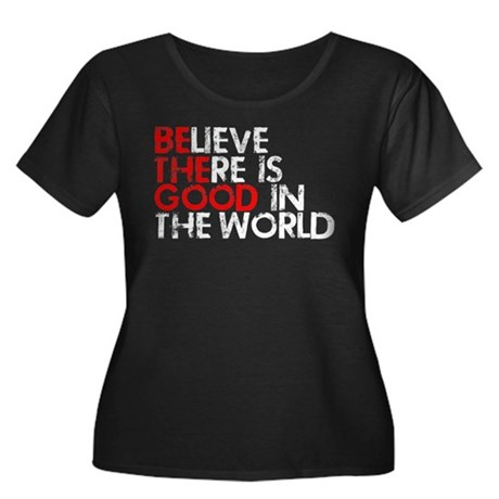 Be The Good In The World Women's Plus Size Scoop N
