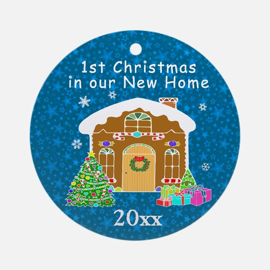 1st Christmas In Our New Home Ornament (Round)